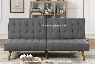 NEW, ADJUSTABLE SOFA WITH A COMFORTABLE SIMPLE BED, BLUE GREY, SKU#TCF8501 for Sale in Westminster,  CA