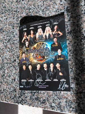 Dancing with the Stars - autographed program for Sale in Alexandria, VA