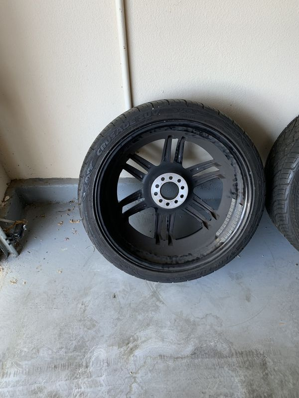 """26"""" rims and tires. Excellent used condition but no lugs"""