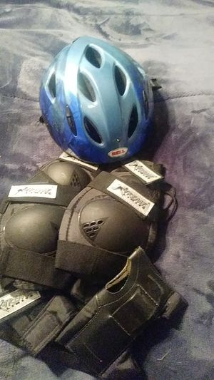 Helmet wrist guards elbow and knee pads for Sale in Derby, KS
