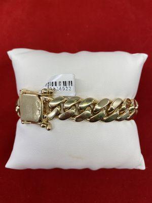 Miami Cuban link bracelet 10k gold for Sale in Tampa, FL