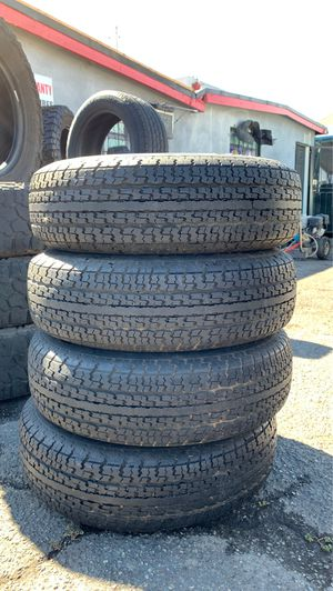 (4) 205/75/14 GOOD YEAR TRAILER TIRES GOOD CONDITION for Sale in Stockton, CA