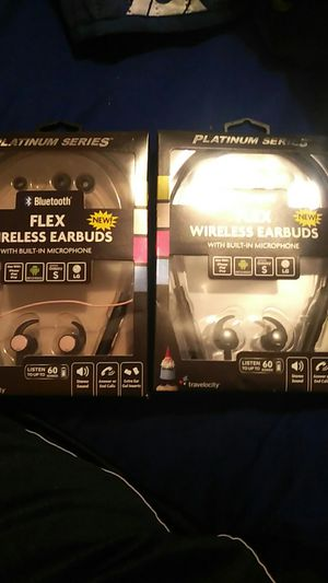 2 flex wireless Bluetooth earbuds with mic for Sale in Philadelphia, PA