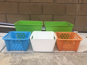 Colored storage containers for Sale in Colton, CA