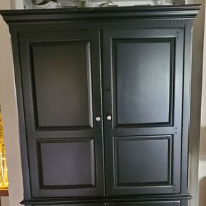 Beautiful Solid Wood Entertainment Center With Built In Surge Protector 78h X 44x24 New Condition for Sale in Virginia Beach, VA
