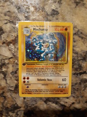 Pokemon Card - Holographic 1st Edition Machamp SEALED!!! for Sale in Mead, WA