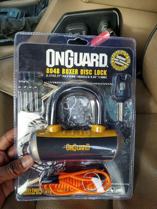 """Brand New OnGuard Disc Lock"""