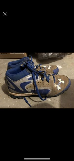 Size 5 under armor cleats for Sale in Mount Airy, MD