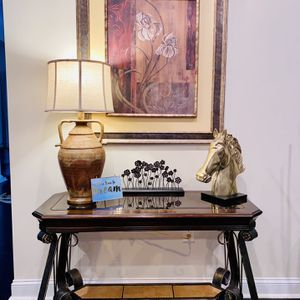 Console / Entry Glass Table with Frame for Sale in Durham, CT
