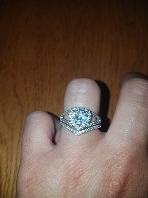 Sterling silver white sapphire ring set size 7 for Sale in Dundalk, MD