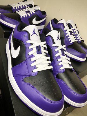 Jordan 1 low court purple for Sale in Riverside, CA