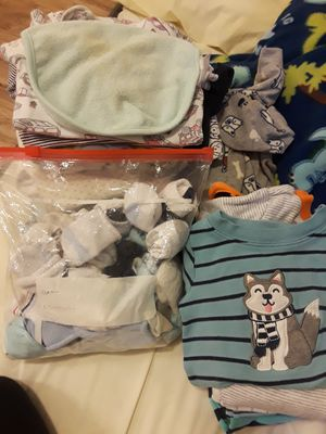 Carter &Gap baby clothes and socks 0-9months for Sale in Alexandria, VA