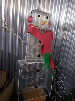 Tall lighted snowman for Sale in Oak Lawn, IL
