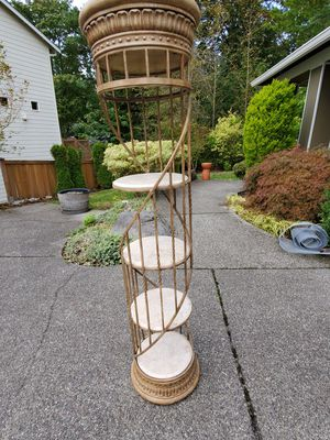 Decorative spiral wrought iron and marble shelf for Sale in Redmond, WA