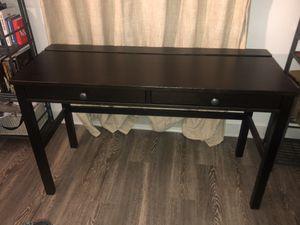 Solid Wood Desk (black brown) for Sale in Rockville, MD