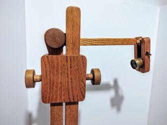 Unique Vintage Fully Adjustable Wooden Arm Floor Lamp - Mid Century Modern for Sale in Kirkland,  WA