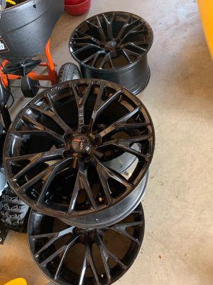 """5x120 19"""" 20"""" OEM Z06 Black Rims for Sale in Kettering, MD"""