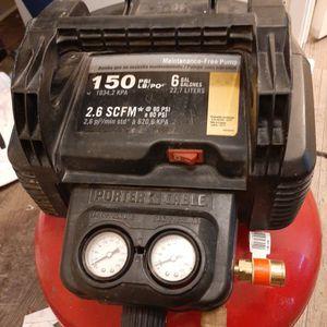 Porter Cable 150 Psi 6 Gal Air Compressor for Sale in Tacoma, WA