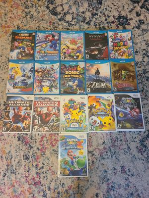 Nintendo wii u with games and controllers for Sale in Pawtucket, RI