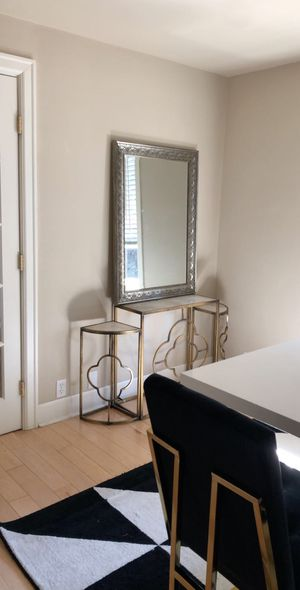 3 piece real marble and gold console table for Sale in Seattle, WA