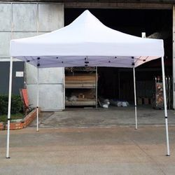 New In Box $100 Heavy-Duty 10x10 ft Popup Canopy Tent Instant Shade w/ Carry Bag Rope Stake, White Color for Sale in Pico Rivera,  CA