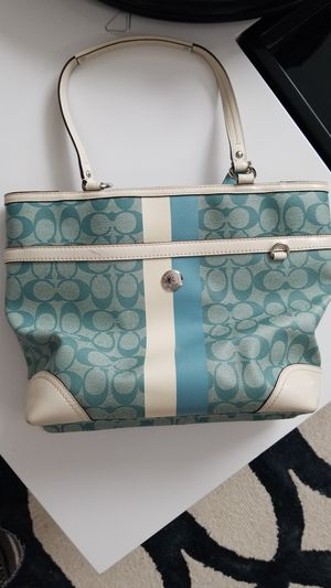 Authentic sky blue coach purse for Sale in Cleveland, OH