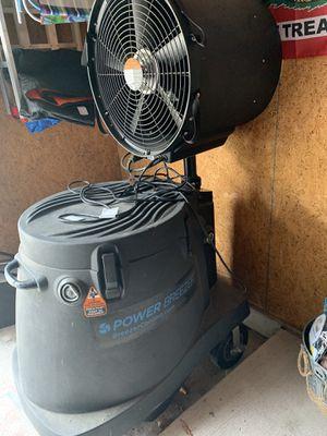 Power Breezer misting fan for Sale in Norfolk, VA