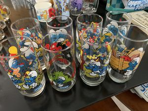 Smurf glasses for Sale in Angier, NC