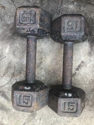 15LB Dumbbells for Sale in Modesto, CA