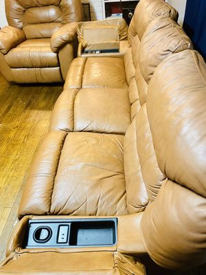 Excellent condition MASSAGER couches with all recliners and one ROCKER for Sale in Manassas, VA