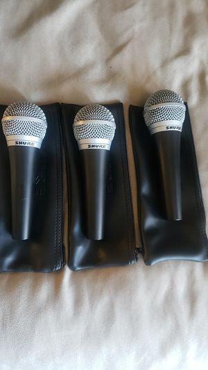 3 Shure PG48 microphones for Sale in Escondido, CA