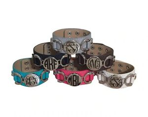 Monogrammed leather bracelets for Sale in Bunn, NC