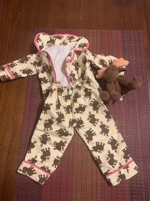 Doll moose pjs fits doll 18 in for Sale in Inglewood, CA