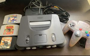Nintendo 64 Console: Yoshi's Story, Pokemon Snap, Battle Zone + Gamepad & Cables for Sale in Santee, CA