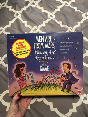 Men are from mars, women are from venus board game for Sale in El Paso, TX