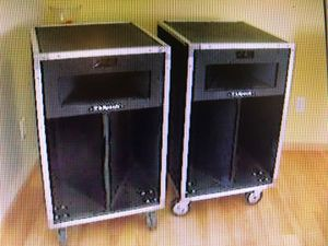 Vintage Klipsch La Scala Industrial Speakers plus rack mounted Power Amp, MidiVerb, & EQ for Sale in MD CITY, MD