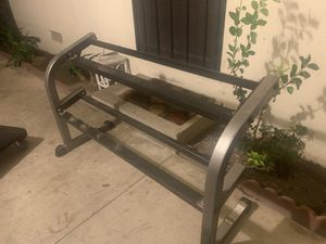 2 tiers dumbbell rack FIRM PRICE for Sale in Fullerton, CA