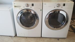 LG Front load Heavy duty washer and dryer Works great for Sale in Nashville, TN