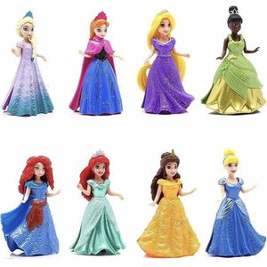 *NEW*(COLLECTORS SET) 8-PC Doll Gift Set: 3.75 Disney Princess, featuring Anna and Elsa from Frozen for Sale in Cleveland, OH
