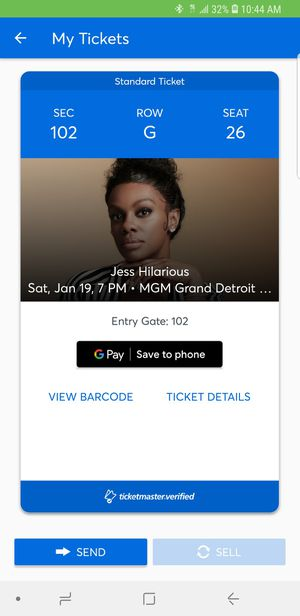 Jess hilarious ticket.. $50.00 for Sale in Detroit, MI
