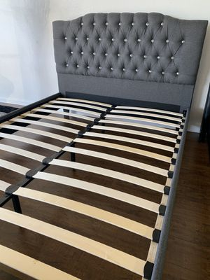 QUEEN BED FRAME ONLY ‼️‼️ • Brand new in box, never opened! • PICK UP ONLY • Hardware & instructions included • Price is non-negotiable, cash only • for Sale in San Bernardino, CA