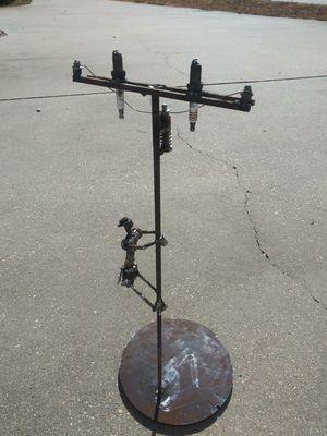 Metal art lineman for Sale in Lake Village, AR