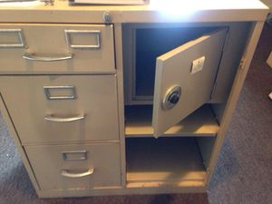 Filling cabinet with safe for Sale in Springfield, MA