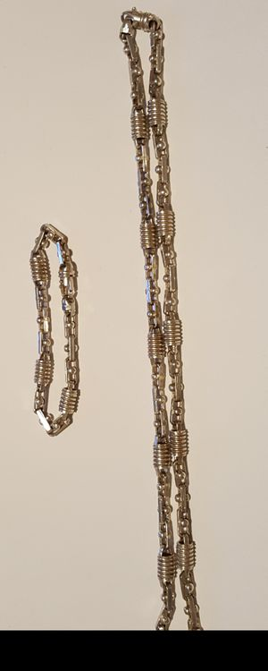 Heavy Sterling Silver Necklace and Bracelet for Sale in Tampa, FL
