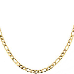 5mm Wide Figaro Chain Stainless Steel Necklace, Gift Idea for Sale in Corona, CA