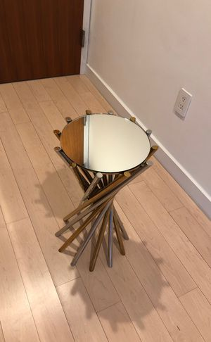 Jonathan Adler End Table Mirror polished Brass gold silver for Sale in New York, NY