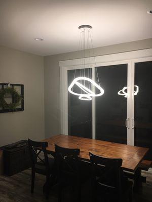 Modern LED 3 light Chandelier for Sale in Wenatchee, WA