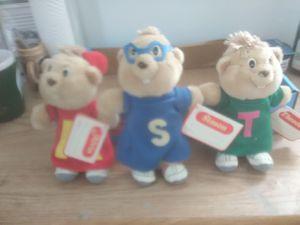 And the Chipmunks stuffed animals for Sale in Warren, MI