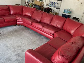 U Shaped Red Sectional for Sale in Cape Coral,  FL