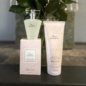 Avon Duo Set Rare Pearls Eau de Parfum 1.7 fl. oz. & Silk Body Lotion for Sale in Fort Worth, TX